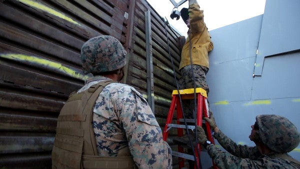 The border wall is a succubus draining ever more of the Pentagon's budget