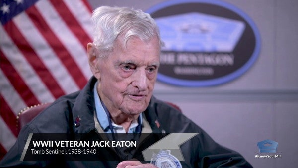 World War II vet and former Tomb of Unknown Soldier guard, 100, finally honored properly