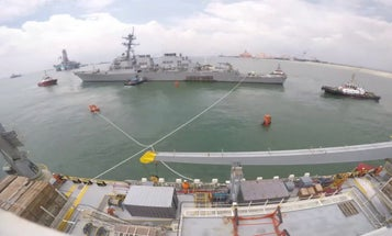 Two years after fatal collision, repaired USS John S. McCain gets back out to sea for testing
