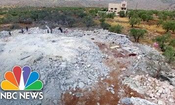 Drone footage shows devastated compound where ISIS leader Abu Bakr al-Baghdadi died