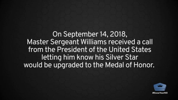'Your spirit keeps our flag waving high' — President Trump presents Master Sgt. Matthew Williams with Medal of Honor