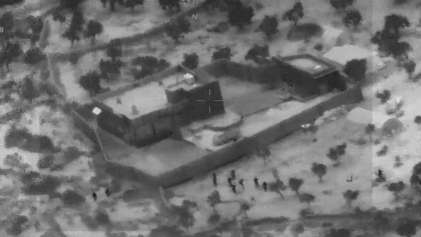 Watch declassified video of the Delta Force raid on the al-Baghdadi compound