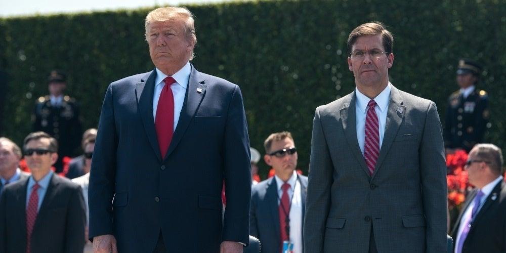 Trump fires Defense Secretary Mark Esper 'effective immediately'