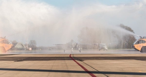 The Netherlands accidentally welcomed its first operational F-35 with a foam bath