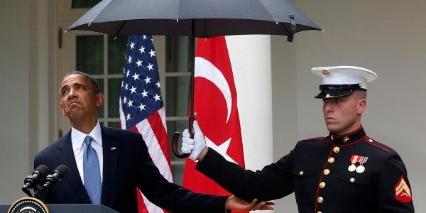 All Marines can finally carry umbrellas as the Corps' 200-year phobia of rain protection ends