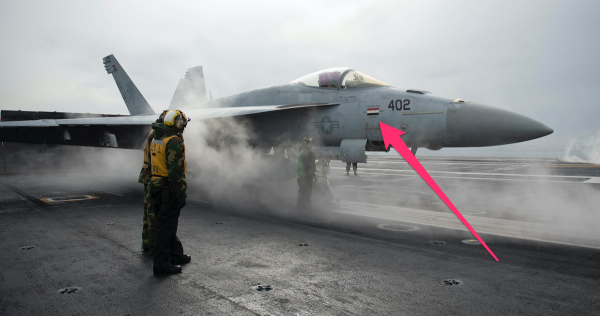 The F/A-18 Super Hornet that pulled off the US's first air-to-air kill in 18 years still has the war paint to prove it