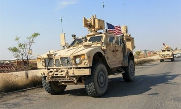 US soldier suffers 'minor superficial scratch' after patrol comes under fire in Syria