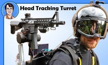 This is what happens when you strap a head-tracking rifle turret to a jet pack