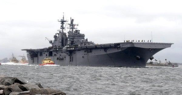 11 sailors injured in fire aboard amphibious assault ship Iwo Jima