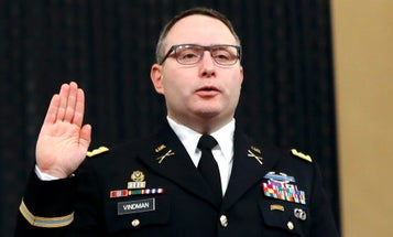 The White House reportedly sent the Pentagon dirt on Lt. Col. Vindman to derail his promotion