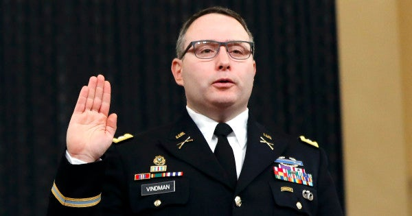 Trump says the military may take disciplinary action against Lt. Col. Vindman