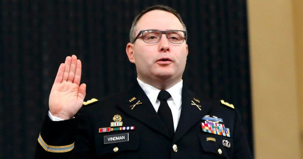 Senator to block 1,123 promotions unless SecDef says Lt. Col. Vindman's promotion won't be stopped