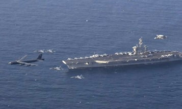 A Navy carrier strike group just rolled up on Iran's doorstep