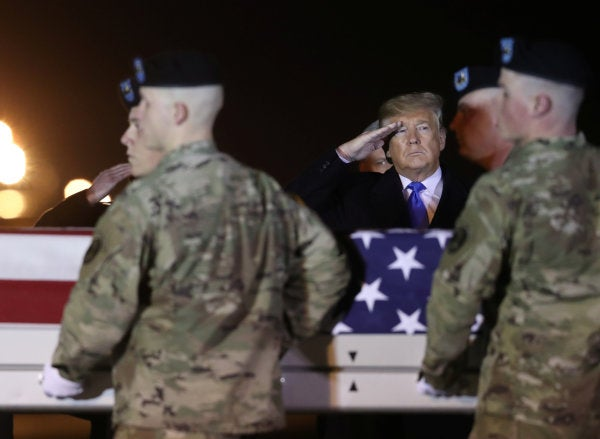 Trump travels to Dover AFB to honor 2 US soldiers killed in Afghanistan