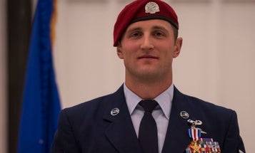 Under heavy fire during a massive Taliban ambush, this airman broke cover to save his teammates