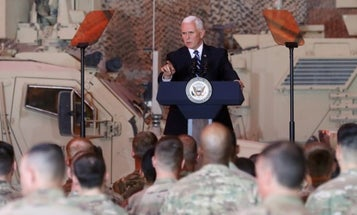 Pence makes surprise visit to Iraq to reassure Kurds (and US troops) that they're not forgotten