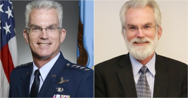 We salute this Air Force general for his epic post-retirement face armor