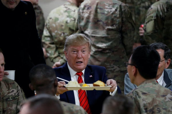 Trump makes surprise Thanksgiving visit to US troops in Afghanistan