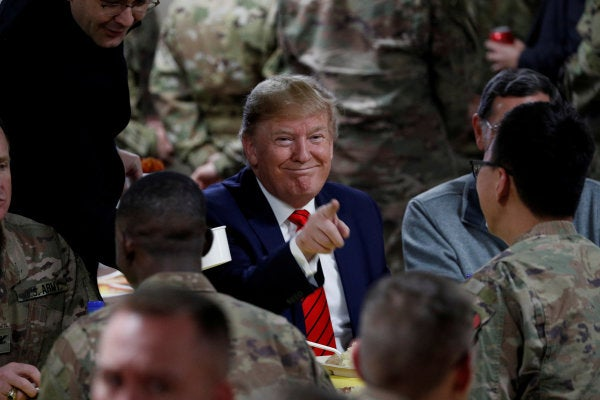 Taliban ready to restart peace talks, one day after Trump visits Afghanistan