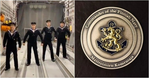 We salute the Finnish sailors who earned a challenge coin for going viral as hell on TikTok