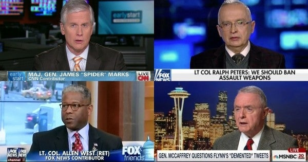 America's senior military officers should retire from becoming America's TV talking heads