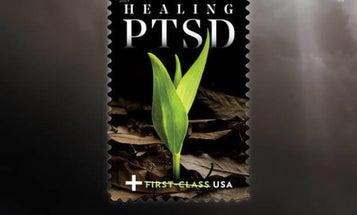 The US Postal Service's new 'Healing PTSD' stamp will raise money for veterans