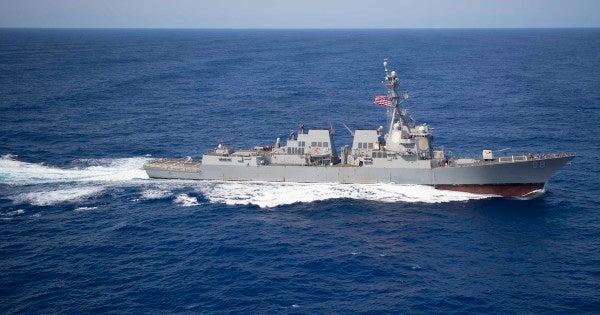 Navy warship seizes suspected Iranian missile parts headed to Yemen