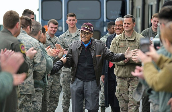 A Tuskegee Airman celebrates his 100th birthday with one more flight