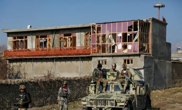 Suicide bombers strike main US military base in Afghanistan, injuring 87