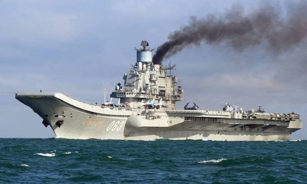 One killed in fire aboard Russia's only aircraft carrier