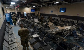 The Taliban may not have breached the walls of Bagram, but they damaged the hell out of its main passenger terminal