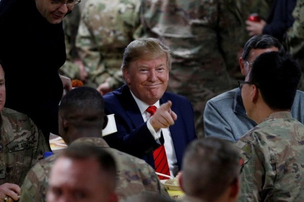 Trump set to announce he's withdrawing 4,000 troops from Afghanistan amid troubled peace talks with Taliban