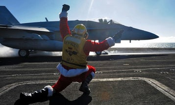 The USS George Washington just won the sh*t out of Christmas