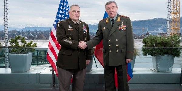 The US and Russia's top generals are totally excited to meet each other