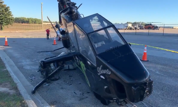 A drunk driver crashed into this Cobra attack helicopter