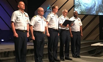 Coast Guard pilot awarded Distinguished Flying Cross for saving lives during Hurricane Harvey