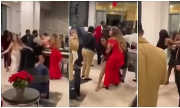 The Navy is investigating a video that purportedly shows a brawl at the USS Eisenhower holiday party