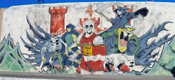 A former Army Guardsman is documenting the murals troops left behind during the Global War on Terror