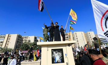 Protesters attempt to storm US embassy in Baghdad over US air strikes