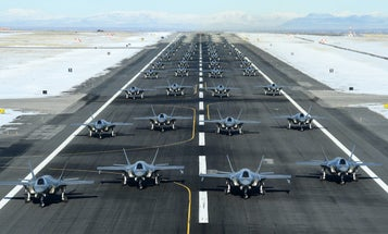 Behold the largest F-35 elephant walk we've ever seen