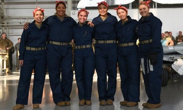 We salute the all-women Air Force team that crushed a weapons loading competition dressed as Rosie the Riveter