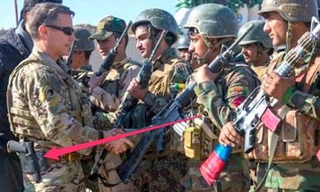 Breathe easy: America's top commander in Afghanistan still holsters his .45 caliber pistol