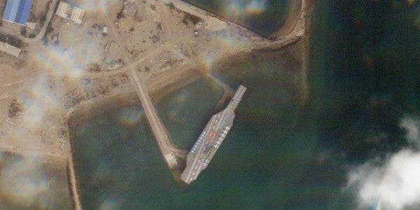 It looks like Iran is ready to start bombing its fake aircraft carrier again