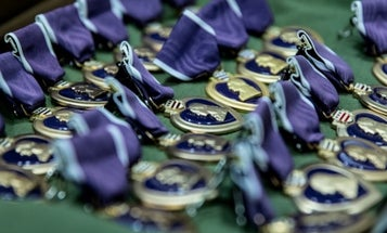 A gun store robber tried to get off easy by claiming Purple Hearts