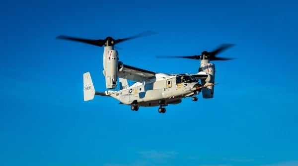 The Navy's new Osprey is one step closer to dropping you off at sea