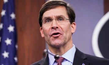 SecDef Esper says he's trying to 'right-size' military forces to counter China