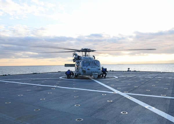 Aircrew in stable condition after US Navy helicopter goes down in Philippine Sea