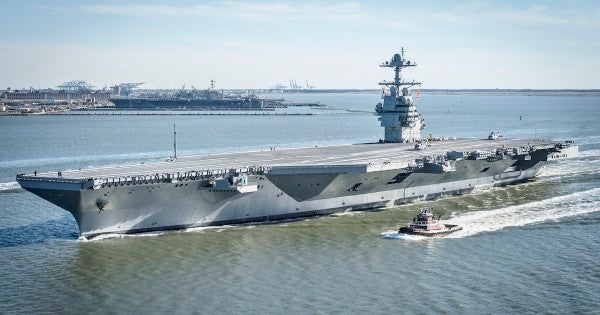 The Navy's newest aircraft carrier just took a major step on its path to deployment