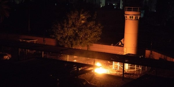 One injury confirmed after rocket attack on the US embassy in Baghdad