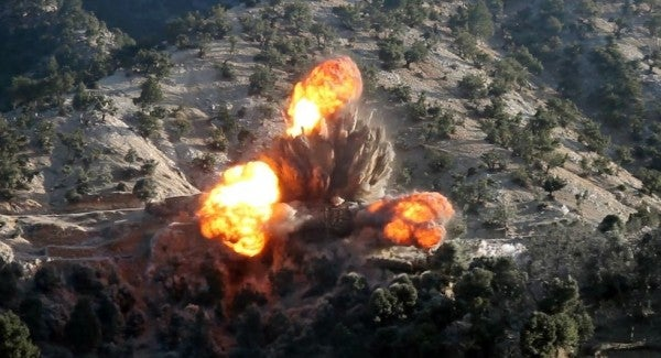 The US dropped more munitions on Afghanistan last year than any other time in the last decade